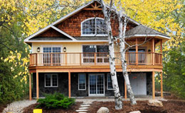 the birchview is an example of one of the best small post and beam home packages on the market